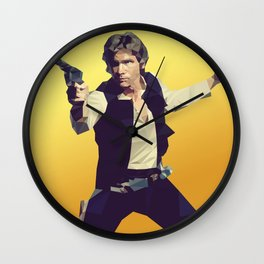 Going Somewhere Solo? - Low Poly Han Wall Clock