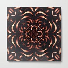 Intense Passion Fiery Mandala - Flower on Fire - Free Spirit Metal Print