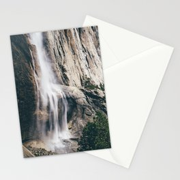 Yosemite Falls with Half Dome Stationery Cards