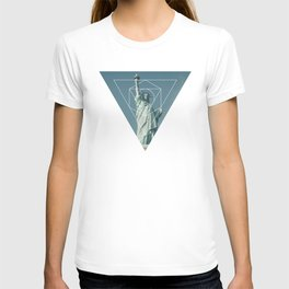 Statue of Liberty - Geometric Photography T-shirt