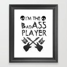 BadASS Player Framed Art Print