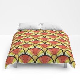 Radiant Sunshine Art Deco Pattern Comforters