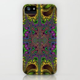 Fractal Oval iPhone Case