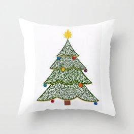 Ornamental Christmas Tree 1 Throw Pillow