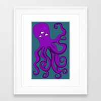 occult Framed Art Prints featuring Occult Octopus by mystmoon