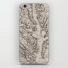 Vintage Map of The Chesapeake Bay (1681) iPhone Skin