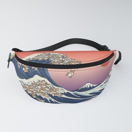 The Great Wave of Shiba Inu Fanny Pack