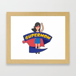 Supermom Hero Mothers Day Gift - Shirt Framed Art Print