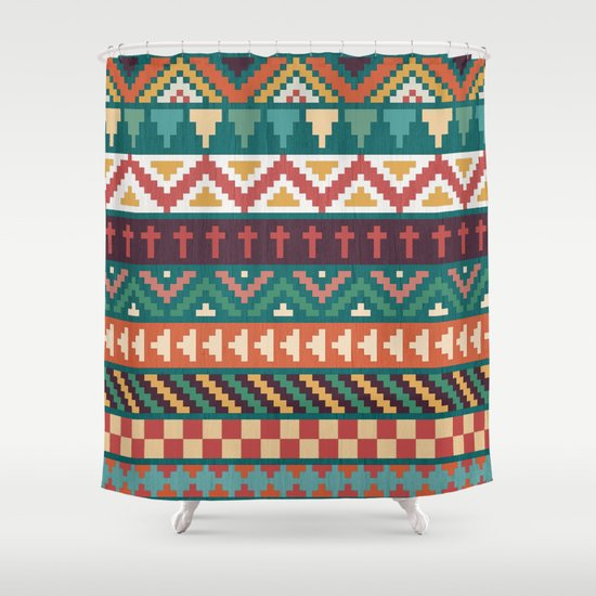 Southwestern Pattern Shower Curtain By Noonday Design