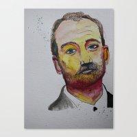 bill murray Canvas Prints featuring Bill Murray by itsbreeeee