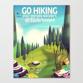 Go Hiking! Canvas Print
