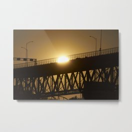 Sunshine on bridge of Montreal Metal Print