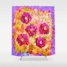 Little Sparkly Bouquet Shower Curtain