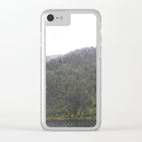 Season's First Snow Clear iPhone Case