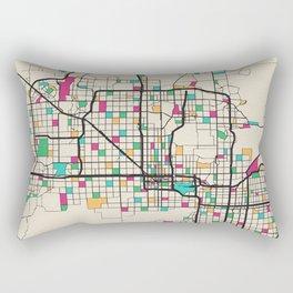 Colorful City Maps: Phoenix, Arizona Rectangular Pillow