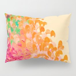 CREATION IN COLOR Autumn Infusion - Colorful Abstract Acrylic Painting Fall Splash Ombre Ocean Waves Pillow Sham