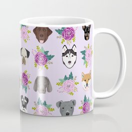 Dogs and cats pet friendly floral animal lover gifts dog breeds cat person Coffee Mug