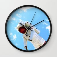 spaceman Wall Clocks featuring Spaceman by Richwill Company
