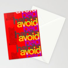 Avoid bad habits. A PSA for stressed creatives. Stationery Cards
