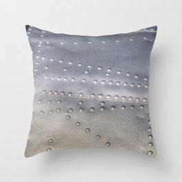 Aluminium Aircraft Skin Texture Throw Pillow