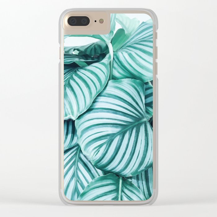 Long embrace - teal green Clear iPhone Case