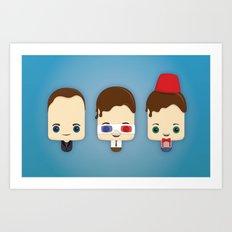 Doctor Who Ice Lollies Art Print