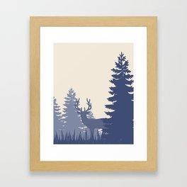 Buck in the Woods Framed Art Print