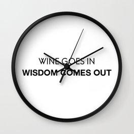 Wine & Wisdom Wall Clock