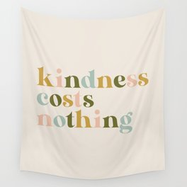 Kindness Costs Nothing - Retro Wall Tapestry