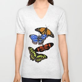 A butterfly collection Unisex V-Neck