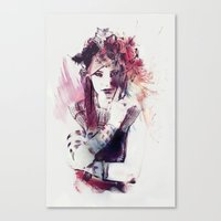 moulin rouge Canvas Prints featuring Rouge by Galen Valle