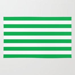 Horizontal Green Stripes Rug