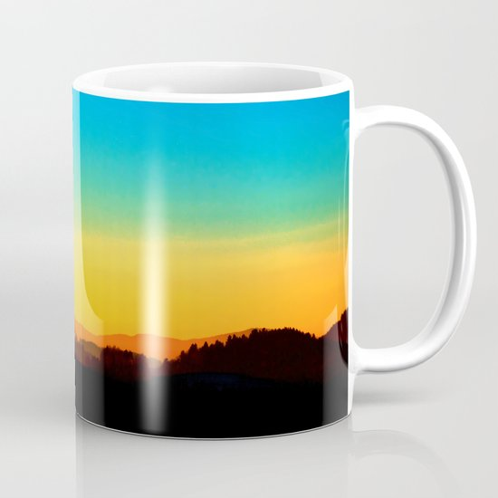 Colorful sundown scenic view | landscape photography Coffee Mug