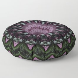 Rose And Jade Geometric Fantasy Mandala Pattern Floor Pillow