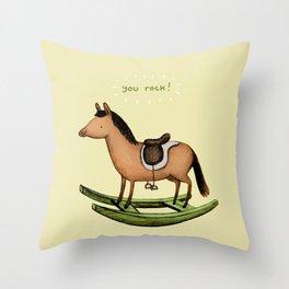 Rocking Horse Throw Pillow