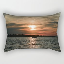 Tangerine Sky Rectangular Pillow