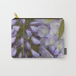 Wisteria Petals and Leaves Carry-All Pouch