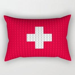 Swiss flag by Qixel Rectangular Pillow