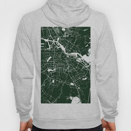 Amsterdam Green on White Street Map Hoody