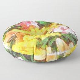 Lilies Love and Light Floor Pillow