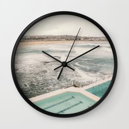 Gazing over Bondi Beach, Sydney  Wall Clock
