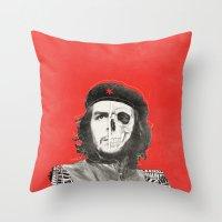 che Throw Pillows featuring CHE by Lucas Schievenin