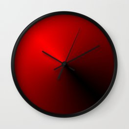 Leader - Red and Black Wall Clock
