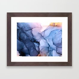 Captivating 1 - Alcohol Ink Painting Framed Art Print