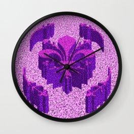Florentine Purple Garden Wall Clock