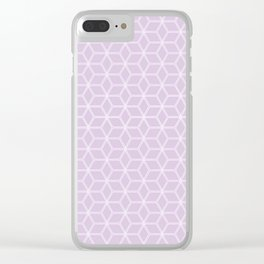 Hive Mind Light Purple #216 Clear iPhone Case