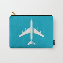 707 Passenger Jet Airliner Aircraft - Cyan Carry-All Pouch