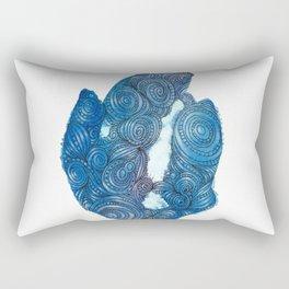 Blue Crystal Bling Rectangular Pillow
