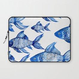 BLUE SCHOOL OF FISH Laptop Sleeve