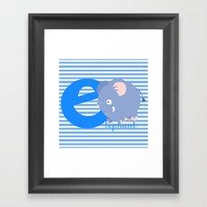 e for elephant Framed Art Print